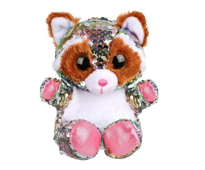 Купить Мягкие игрушки, Мягкая игрушка Fluffy Family из пайеток Енот 15 см
