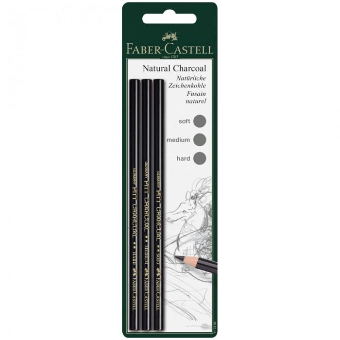 Карандаши, восковые мелки, пастель Faber-Castell Набор угольных карандашей Pitt 3 шт.