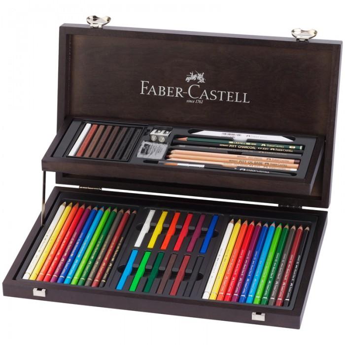 Карандаши, восковые мелки, пастель Faber-Castell Набор художественных изделий Art Graphic Compendium 54 предмета