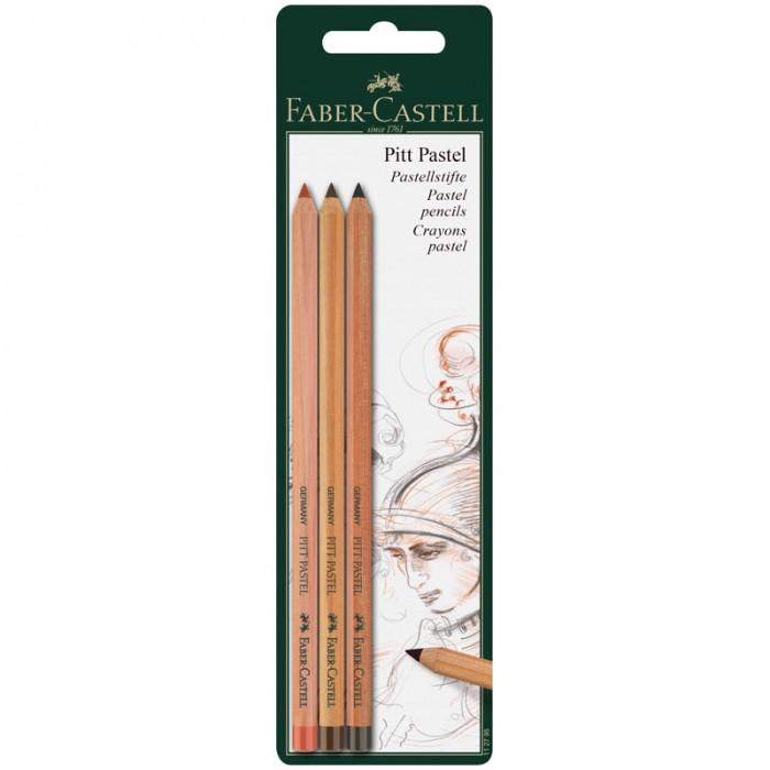 Карандаши, восковые мелки, пастель Faber-Castell Пастельные карандаши Pitt Pastel 3 цвета
