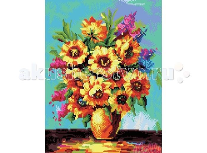 Творчество и хобби , Картины своими руками Molly Картина со стразами Солнечные цветы 40х50 см арт: 76972 -  Картины своими руками