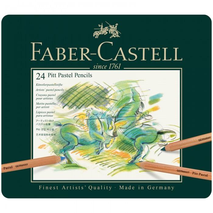 Карандаши, восковые мелки, пастель Faber-Castell Пастельные карандаши Pitt Pastel 24 цвета