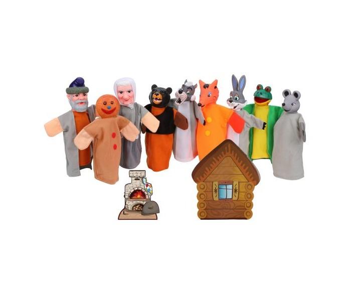 Ролевые игры Жирафики Кукольный театр 2 в 1 Теремок и Колобок ролевые игры жирафики кукольный театр репка 6 кукол