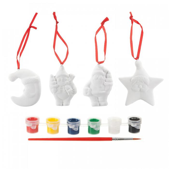 Наборы для творчества Bondibon Набор Ёлочные украшения месяц дед мороз снеговик звезда