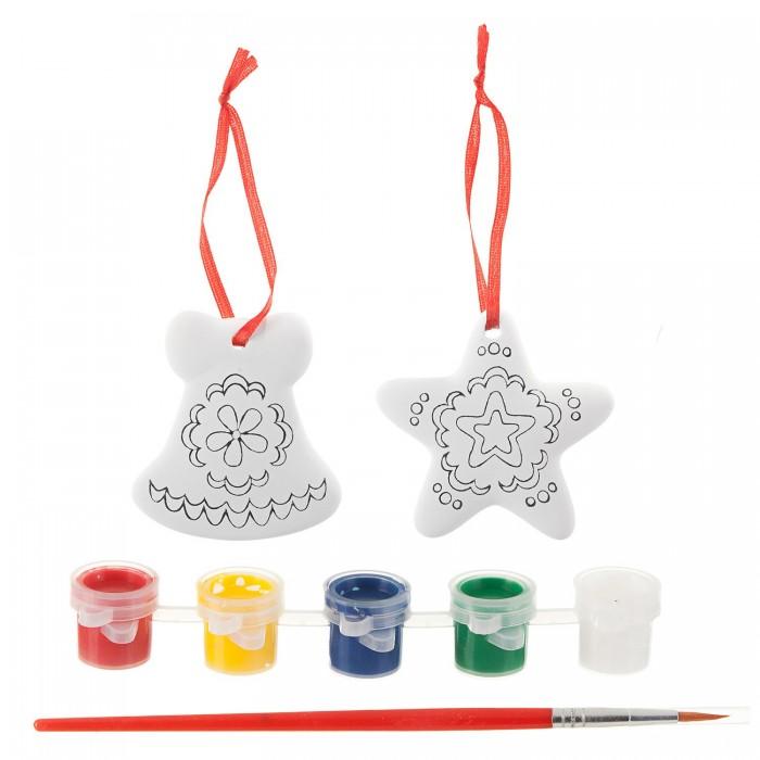 Наборы для творчества Bondibon Набор для творчества Ёлочные украшения на карте Избушка bondibon набор для творчества часы на пяльцах вв1699