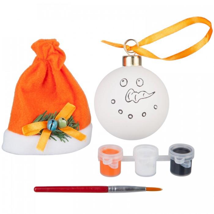Наборы для творчества Bondibon Набор для творчества Шар Снеговичок bondibon набор для творчества часы на пяльцах вв1699