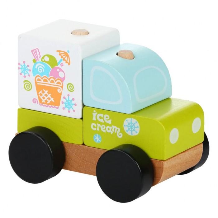 Картинка для Деревянные игрушки Cubika Машинка-конструктор Экспресс-мороженное LM-8 (5 деталей)