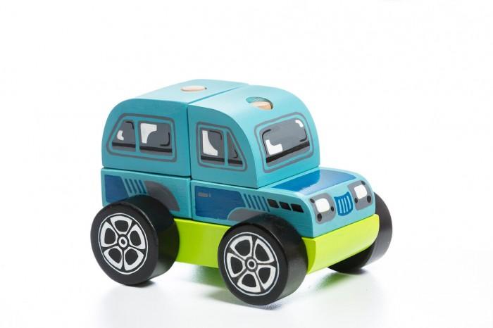 Картинка для Деревянные игрушки Cubika Машинка-конструктор Внедорожник LM-9 (5 деталей)