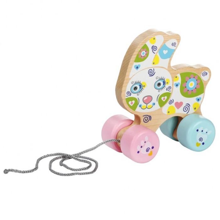 Картинка для Каталки-игрушки Cubika Веселый зайчонок