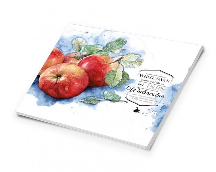 Купить Принадлежности для рисования, Малевичъ Склейка для акварели White Swan Fin 24х23 см 20 л