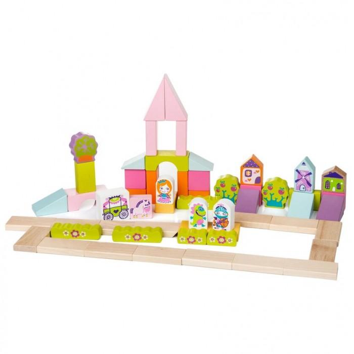 Картинка для Деревянные игрушки Cubika Город для девочек (55 деталей)
