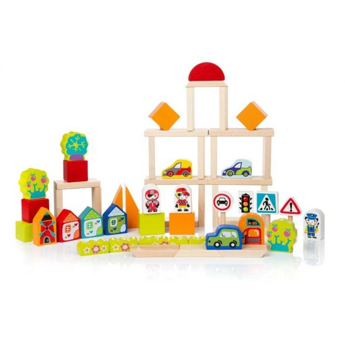 Картинка для Деревянные игрушки Cubika Город для мальчиков (55 деталей)