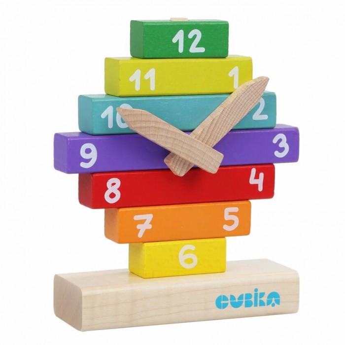 Картинка для Деревянные игрушки Cubika Конструктор Часы
