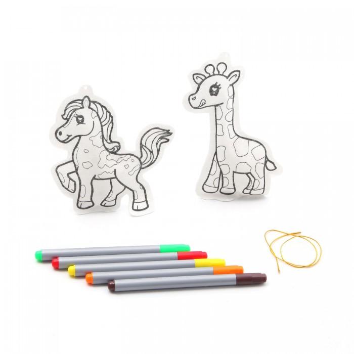 Фото - Наборы для творчества Bondibon Набор для творчества Ёлочные украшения Жираф, лошадка bondibon елочные украшения жираф лошадка разноцветный