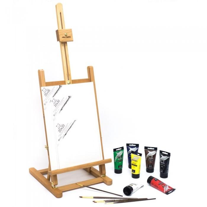 Купить Принадлежности для рисования, Малевичъ Стартовый набор для живописи акрилом МЛ-57