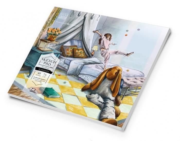 Купить Малевичъ Альбом-склейка для маркеров Sketch 20х20 см 40л в интернет магазине. Цены, фото, описания, характеристики, отзывы, обзоры