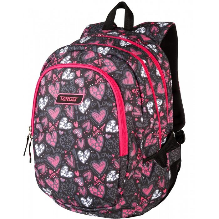 Купить Школьные рюкзаки, Target Collection Рюкзак 3 zip Love you