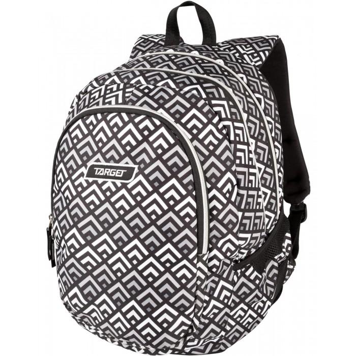 Купить Школьные рюкзаки, Target Collection Рюкзак 3 zip Grey Pyramids