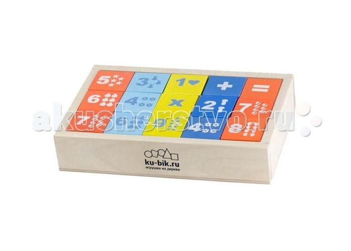 Деревянные игрушки Alatoys Кубики Математика деревянные окрашенные 15 шт. деревянные игрушки теремок кубики веселый счет 15 шт