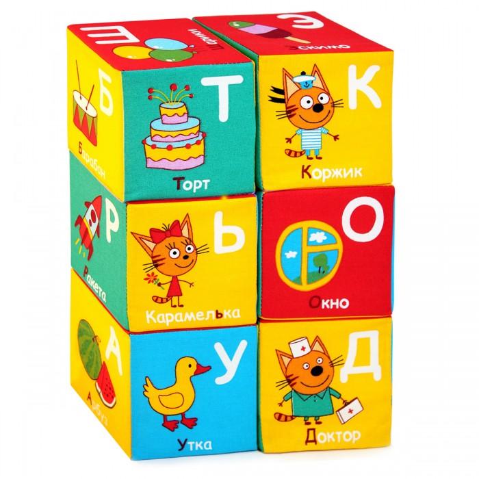 Развивающие игрушки Мякиши Кубики Три кота Алфавит