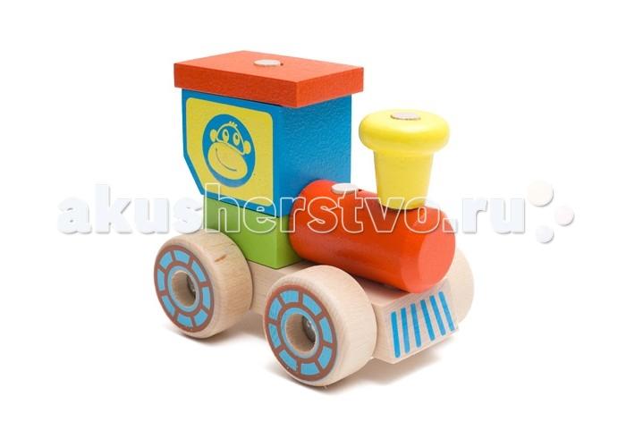 Каталки-игрушки Alatoys Конструктор-каталка Паровозик плэйдорадо 12015 каталка паровозик малышок 1 15 р63146