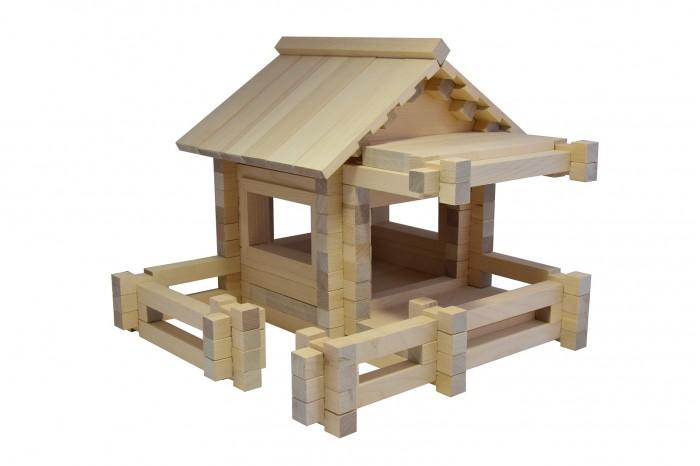 Деревянная игрушка Мишка Кострома Конструктор Усадьба-1 К-004
