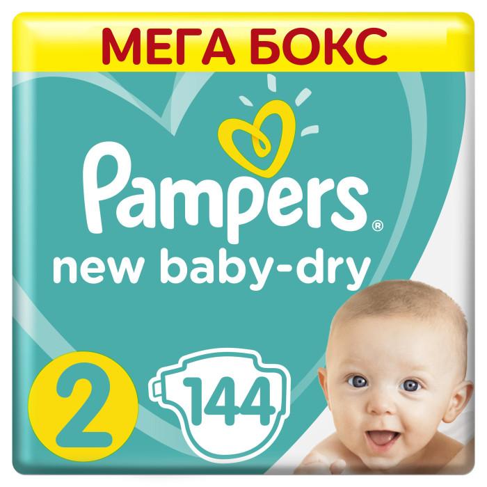 Подгузники Pampers Подгузники New Baby-Dry Mini р.2 (3-6 кг) 144 шт. подгузники pampers newbaby dry mini 2 3 6 кг