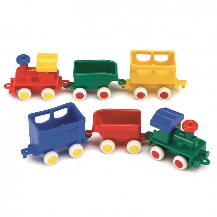 Железные дороги Viking Toys Паровоз с двумя вагончиками