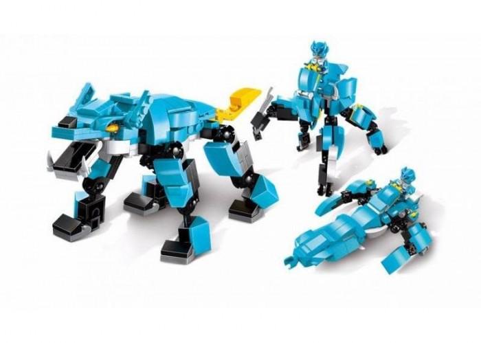 конструктор enlighten brick серия город пешеходный переход 418 деталей Конструкторы Enlighten Brick пластмассовый Space War Космоволк 3 в 1 (163 деталей)