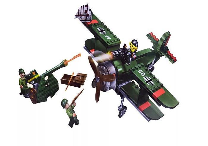 Сборные модели Enlighten Brick Военная база Combat Zone (187 деталей)