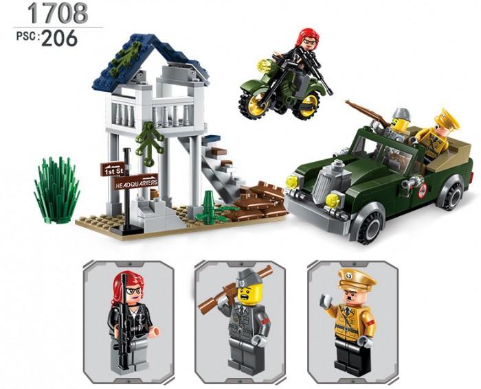 конструктор enlighten brick серия город пешеходный переход 418 деталей Конструкторы Enlighten Brick Военная база Combat Zone (206 деталей)