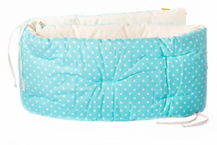 Бортик в кроватку HoneyMammy Dots Turquoise 180x25 см