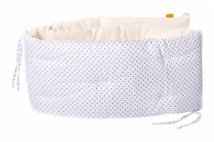 Бортик в кроватку HoneyMammy Dots White 180x25 см
