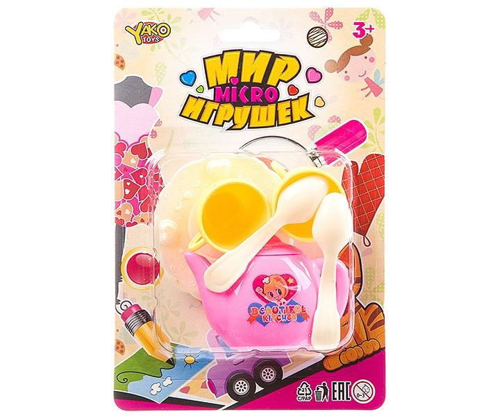 Ролевые игры Yako Мир micro игрушек Набор посуды Чаепитие (7 предметов) набор посуды gipfel antea 7 предметов