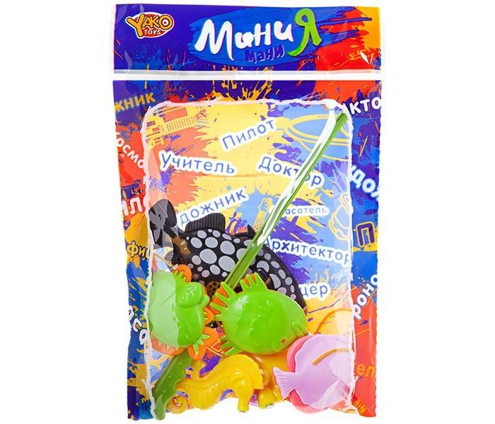 цена на Игрушки для ванны Yako МиниМания Игра Рыбалка магнитная (5 фигурок)