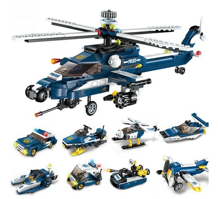 Картинка для Enlighten Brick Полицейский вертолёт (381 деталь)