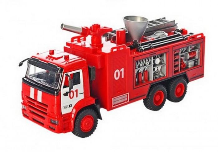 Купить Машины, Play Smart Пожарная машина инерционная Автопарк