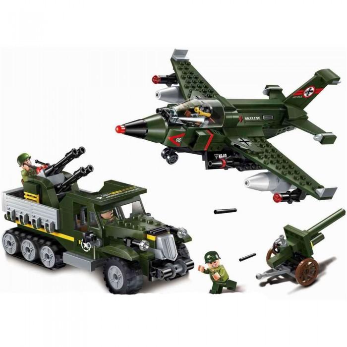 Купить Сборные модели, Enlighten Brick Военная база Combat Zone Авианалет (438 деталей)