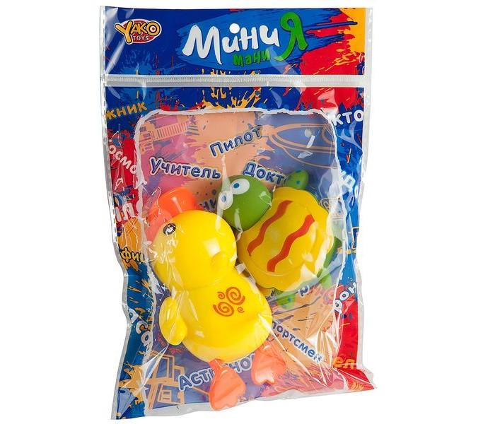 Игрушки для ванны Yako МиниМания Набор из 2-х игрушек-брызгалок в ванну
