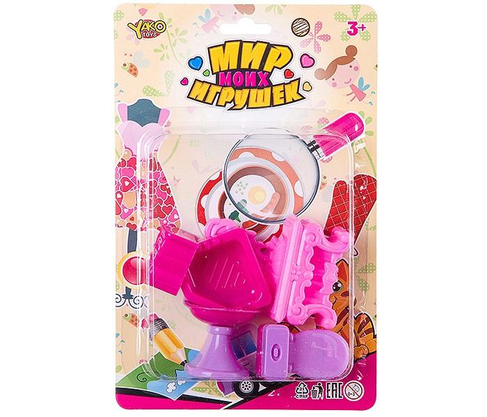 Фото - Кукольные домики и мебель Yako Мир micro игрушек Набор Ванная комната (6 предметов) полесье набор игрушек для песочницы 468 цвет в ассортименте