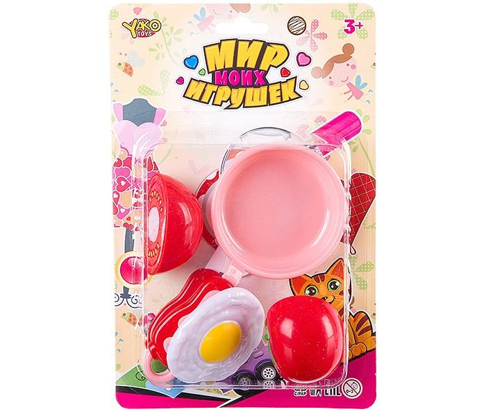 Ролевые игры Yako МиниМаниЯ Набор посуды и продуктов Нарезаем продукты и готовим (5 предметов)