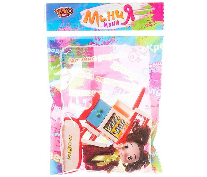 Куклы и одежда для кукол Yako МиниМаниЯ Набор мебели с куклой 8.5 см кукольные домики и мебель yako минимания набор пластмассовой мебели для кукол