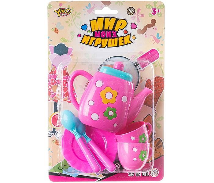 Ролевые игры Yako Мир micro игрушек Набор пластмассовой посуды Чаепитие (7 предметов) набор посуды gipfel antea 7 предметов