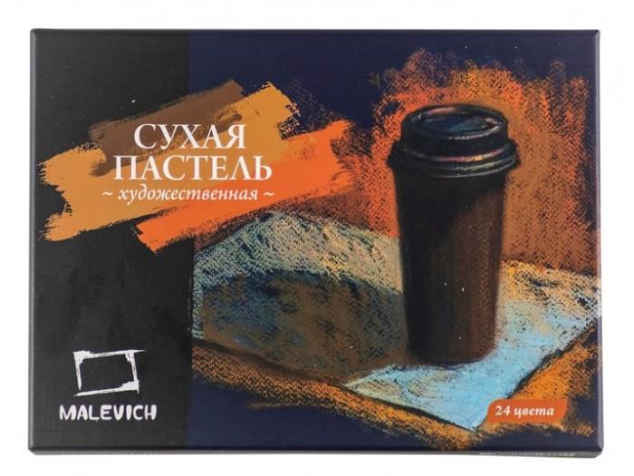 Картинка для Малевичъ Пастель сухая художественная квадратные мелки-половинки 24 цвета