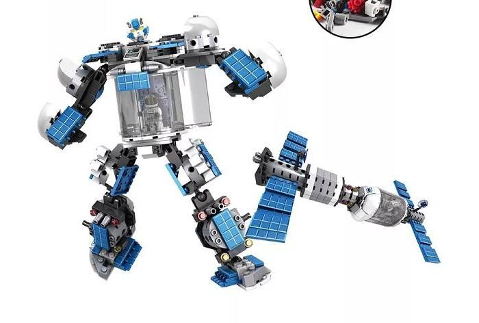 Конструктор Play Smart 2 в 1 робот-спутник Супергерой (242 детали) Г56035