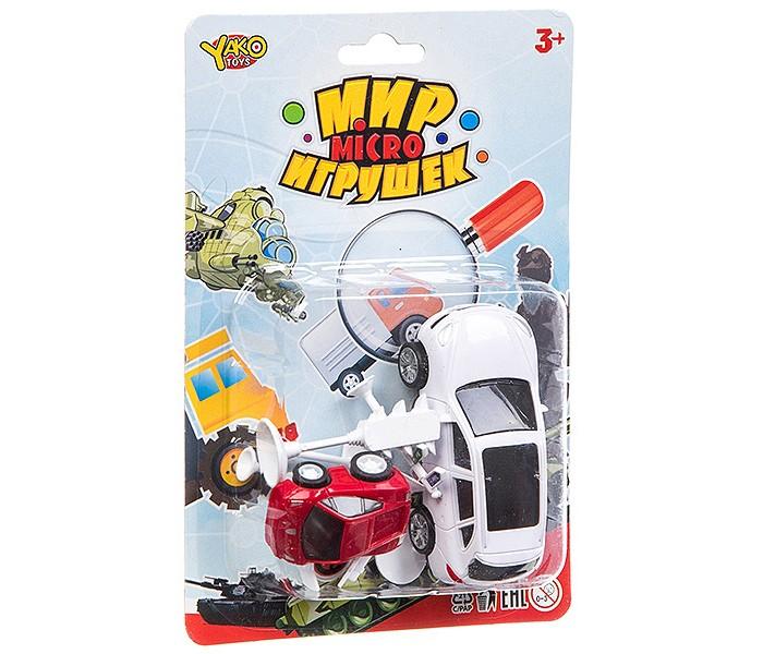 Машины Yako Мир micro игрушек 2 машины с дорожными знаками yako заправка с машиной и дорожными знаками разноцветный