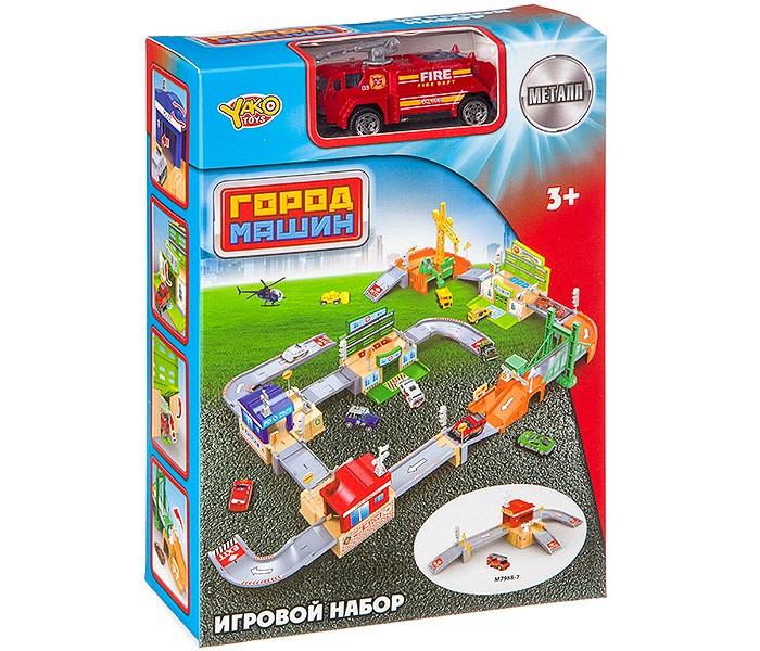 Игровые наборы Yako Набор игровой Пожарная станция с металлической машинкой игровой набор hasbro город пожарная станция b3415