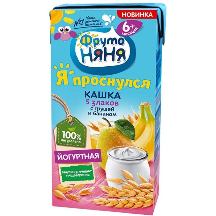 Купить ФрутоНяня Кашка молочная йогуртная 5 злаков с грушей и бананом 200 мл в интернет магазине. Цены, фото, описания, характеристики, отзывы, обзоры