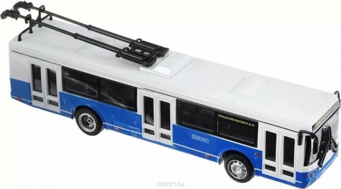 Машины Play Smart Троллейбус инерционный 1:72 машины play smart инерционный грузовик продукты
