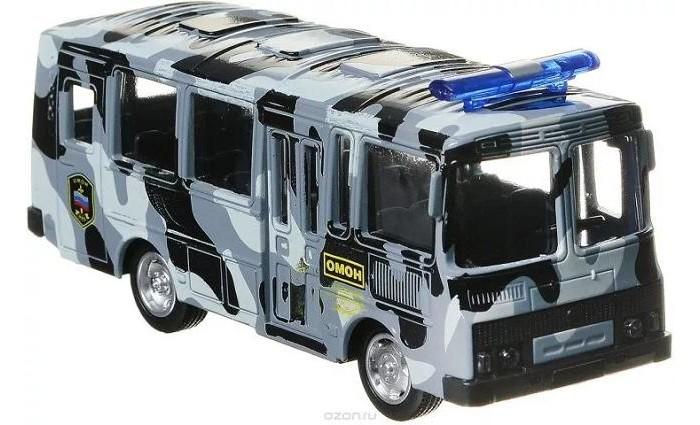 Машины Play Smart Автобус Омон инерционный Автопарк 1:61 машины play smart инерционный грузовик продукты